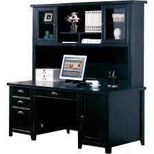 Black Corner Computer Desk With Hutch by Buy Tribeca Loft Black Double Pedestal Desk Hutch Martin From With