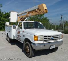 Stahl Utility Bed by 1991 Ford F450 Bucket Truck Item Da2691 Sold June 22 Co