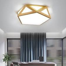 moderne deckenle led geometrisches design aus acryl in