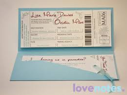 Stylish Tropical Boarding Pass Wedding Invitation Plane Ticket