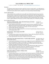 Usc School Of Social Work Resume by Demartino Asw Resume 10 2015