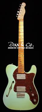 Custom Shop Fender Thinline Telecaster Relic Service Surf Green Light