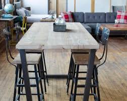 Standing Height Bistro Table Restaurant Pub With Steel Legs In Your Choice Of Color Size And Finish