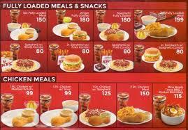 fully loaded deals menu list