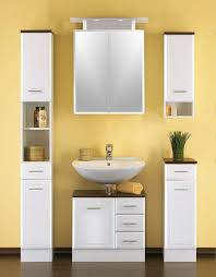 badezimmereinrichtung in weiß 4 teilig