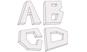 How to draw 3d Letters My Ho To Draw
