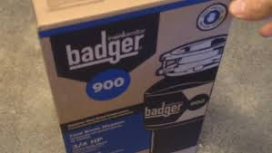 Badger Sink Disposal Manual by Badger 900 Insinkerator Install Youtube