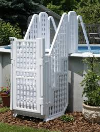 Above Ground Pool Ladder Deck Attachment by Above Ground Pool With Gates Large Above Ground Kid Safe