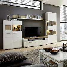 wohnwand plus wohnzimmer anbauwand weiß matt eiche