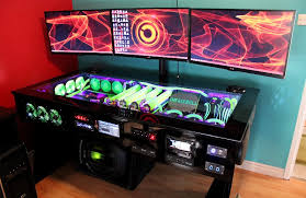 Water Cooled puter Desk watercooled pc desk mod with built in