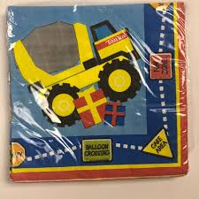 100 Tonka Truck Birthday Party Construction Small Napkins 16 Supplies