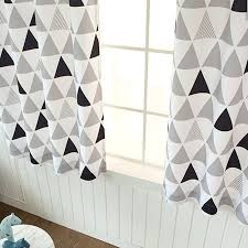 Geometric Pattern Grommet Curtains by Geometric Curtains Grommet Curtain Panels 1pair