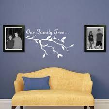 unsere familie baum zitate zweige muster wandtattoo vinyl kunst schriftzug aufkleber für zuhause wohnzimmer dekoration