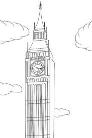 Big Ben Is In London Coloring Page