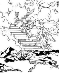Jacobs Dream Angels Of God Ascending And Descending Coloring Page This Will Help
