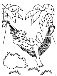 Hawaii Summer Day In Coloring Pages