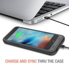 Atomic S Battery Case for iPhone 6 6S 4 7″ Inche – [ Black Black]
