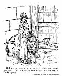 Line Drawings Daniel And The Lions Den Coloring Page