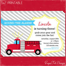 Firetruck Party Invitation, Fire Truck Birthday Invitation ... Birthday Printable Fireman Party Invitation Merriment Template Fire Truck Invitations Wording Plus New Cute Engine Gilm Press Fantastic Photo And Personalise Boys Army Birthday Invitionmiltary Party Invitation Inspirational Firefighter Hire A Fire Ny Pinterest Monster Small Friendly Invites Marvelous