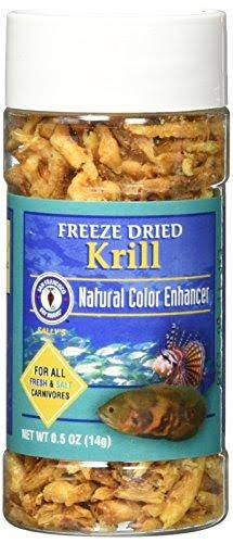 San Francisco Bay Brand Freeze Dried Krill for Fresh and Saltwater Carnivores - 14g