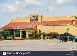 Exterior entrance of Olive Garden restaurant with sign USA Stock
