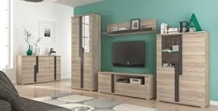 wohnwand mit sideboard wohnzimmer komplett markus sonoma eiche mit beleuchtung