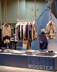 Neat Hanger Display For A Clothing Pop Up Shop