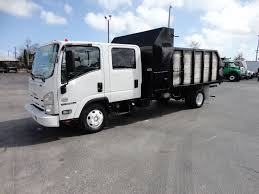 2012 Used Isuzu NPR HD CREW CAB..14FT STEEL LANDSCAPE DUMP TRUCK At ...