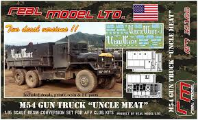 100 Resin Model Truck Parts M54 Gun Uncle Meat Real RM35166 2018