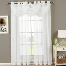 White Lace Curtains Target by White Lace Curtains With Valance Home Design Ideas