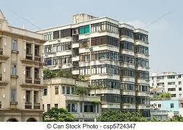 Old Run Down Apartment Buildings In Guangzhou China