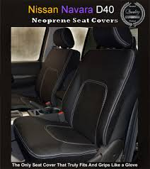 FRONT Seat Covers Fit Nissan Navara D40 ST STX RX Premium Neoprene ...