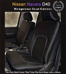 FRONT Seat Covers Fit Nissan Navara D40 ST STX RX Premium Neoprene ...