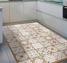vinyl teppich küche braune zufällige fliese