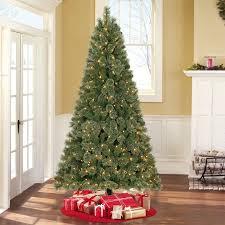 White Fiber Optic Christmas Tree Walmart by Holiday Time Prelit 7 5 U0027 Liberty Pine Artificial Christmas Tree