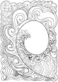 Koru Hand Drawn In Ink Coloring Pages For AdultsColoring SheetsAdult