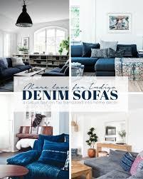 Cindy Crawford White Denim Sofa by Best 25 Denim Sofa Ideas On Pinterest Blue Couch Living Room
