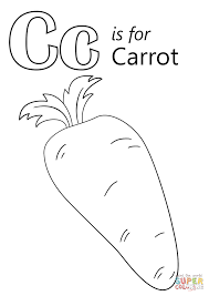 Click The Letter C Is For Carrot Coloring Pages To View Printable