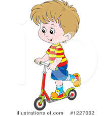 Royalty Free RF Scooter Clipart Illustration 1227002 By Alex Bannykh