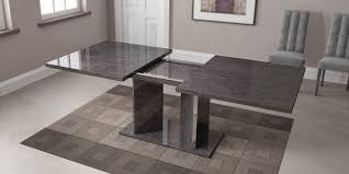 Awesome Modern Dining Room Tables Italian Grey Finished Table Imported And Made In Italy Toledo Ohio AHSAR Expandable