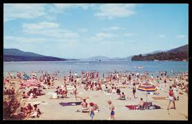 100 Million Dollar Beach New Lake George HipPostcard