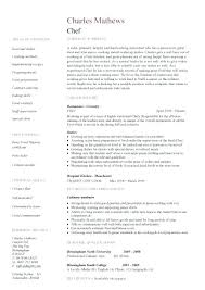 Cook Resume Example Fantastic Chef