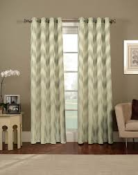 Green Striped Curtain Panels by Ikat Chevron Grommet Curtain Panel Curtainworks Com