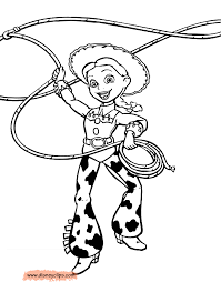 Jessie Toy Story Printable Coloring Pages Disney Book