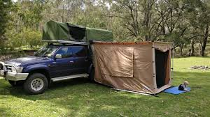 Homemade DIY Ute (Truck) Canopy Camper With Buit In Rooftop Tent ...