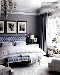 Beautiful Bedroom With Blue Grey Grasscloth Wallpaper