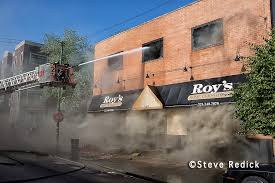 Roy s FUrniture store fire  chicagoareafire