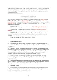 Consultant Contract Template Free Download Inspirational