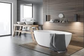 moderne badezimmereinrichtung im bauhaus stil mit