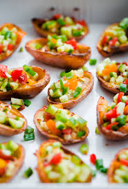 healthy canapes recipes style potato skins with hummus a beautiful plate